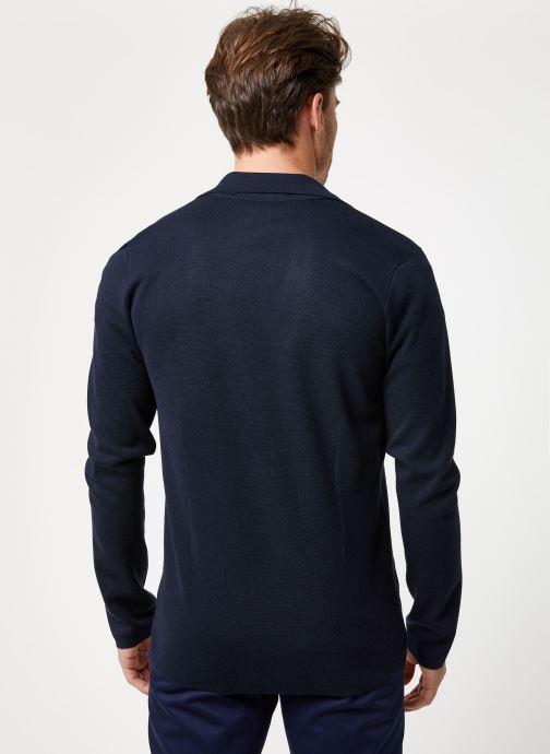 Vêtements Scotch & Soda Chic summer blazer cardigan in wool -blend Bleu vue portées chaussures