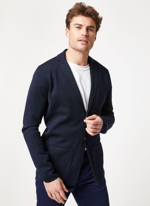 Vêtements Scotch & Soda Chic summer blazer cardigan in wool -blend Bleu vue droite