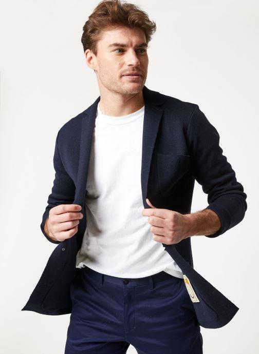 Vêtements Scotch & Soda Chic summer blazer cardigan in wool -blend Bleu vue détail/paire
