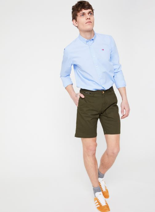 Vêtements Scotch & Soda Classic cotton/elastane chino short Vert vue bas / vue portée sac