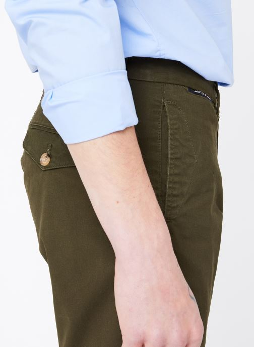 Vêtements Scotch & Soda Classic cotton/elastane chino short Vert vue face