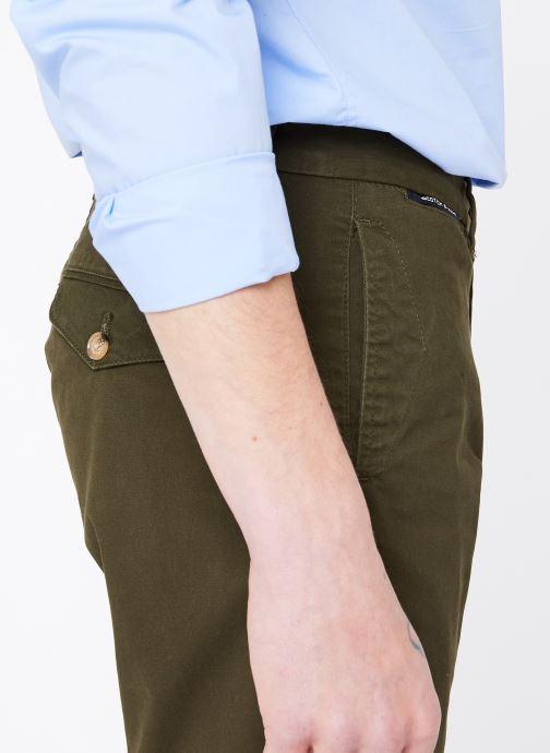 Vêtements Scotch & Soda Classic cotton/elastane chino short Vert vue face