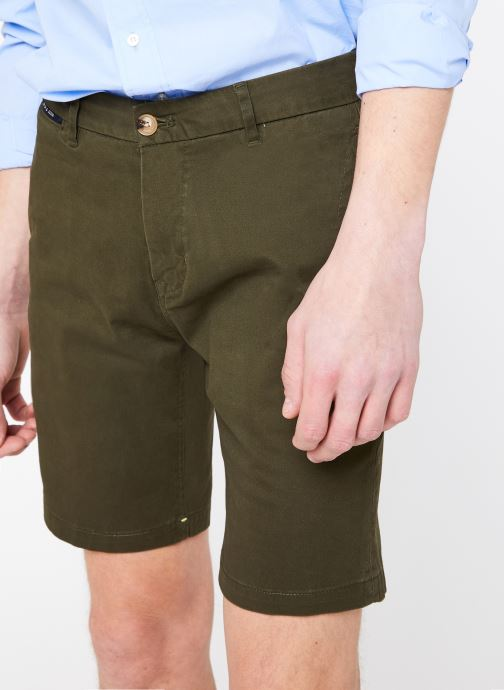 Vêtements Scotch & Soda Classic cotton/elastane chino short Vert vue détail/paire