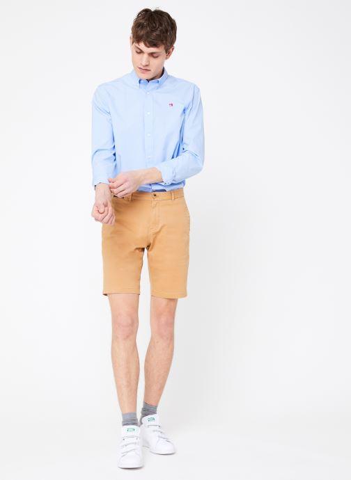 Vêtements Scotch & Soda Classic cotton/elastane chino short Marron vue bas / vue portée sac