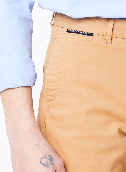Vêtements Scotch & Soda Classic cotton/elastane chino short Marron vue face