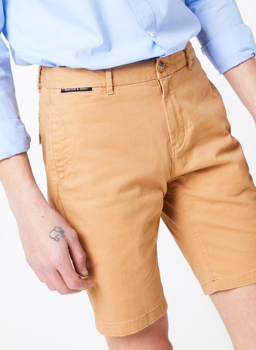 Vêtements Scotch & Soda Classic cotton/elastane chino short Marron vue détail/paire