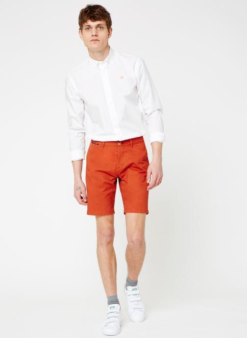 Vêtements Scotch & Soda Classic cotton/elastane chino short Rouge vue bas / vue portée sac