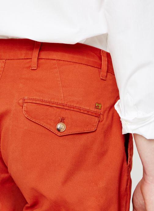 Vêtements Scotch & Soda Classic cotton/elastane chino short Rouge vue face