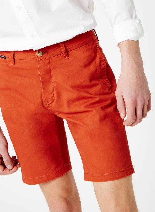 Vêtements Scotch & Soda Classic cotton/elastane chino short Rouge vue détail/paire