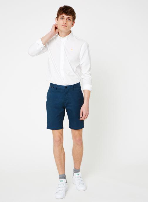 Vêtements Scotch & Soda Classic cotton/elastane chino short Bleu vue bas / vue portée sac