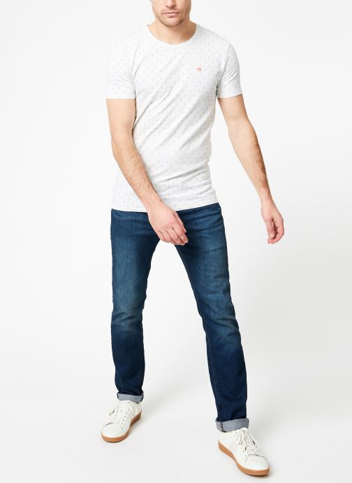 Vêtements Scotch & Soda Classic cotton/elastane crewneck tee Blanc vue bas / vue portée sac