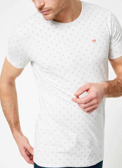Vêtements Scotch & Soda Classic cotton/elastane crewneck tee Blanc vue détail/paire