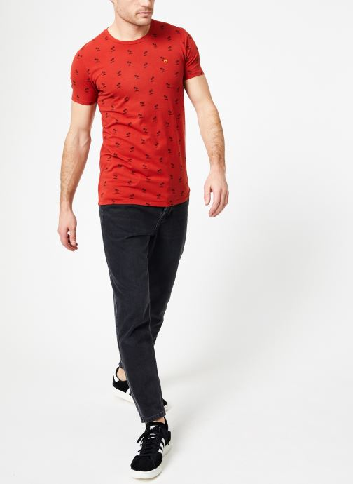 Vêtements Scotch & Soda Classic cotton/elastane crewneck tee Rouge vue bas / vue portée sac