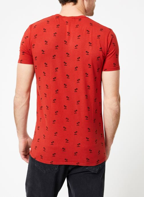 Abbigliamento Scotch & Soda Classic cotton/elastane crewneck tee Rosso modello indossato