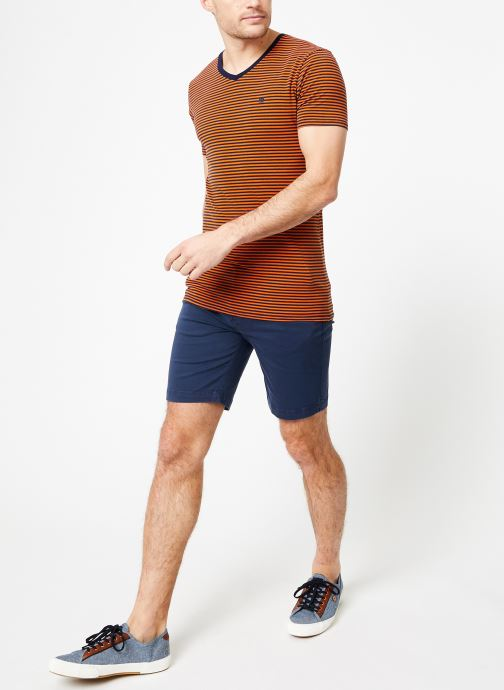 Vêtements Scotch & Soda Classic cotton/elastane v-neck tee Marron vue bas / vue portée sac