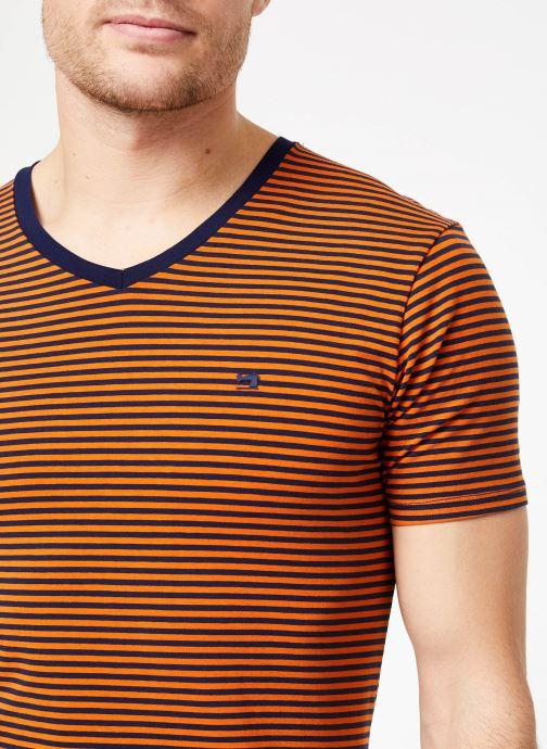 Vêtements Scotch & Soda Classic cotton/elastane v-neck tee Marron vue face