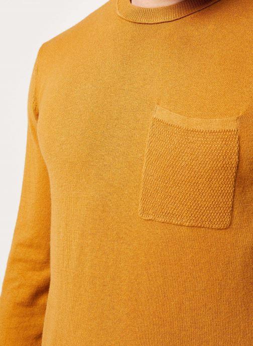 Vêtements Scotch & Soda Classic crewneck pull in soft cotton quality Marron vue face