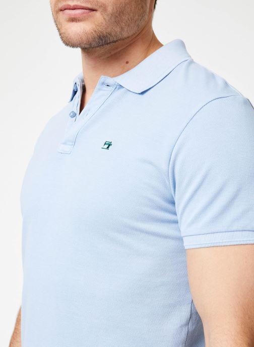 Vêtements Scotch & Soda Classic garment-dyed pique polo Bleu vue face