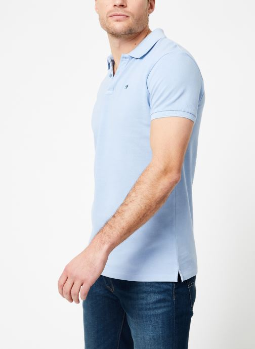 Vêtements Scotch & Soda Classic garment-dyed pique polo Bleu vue droite
