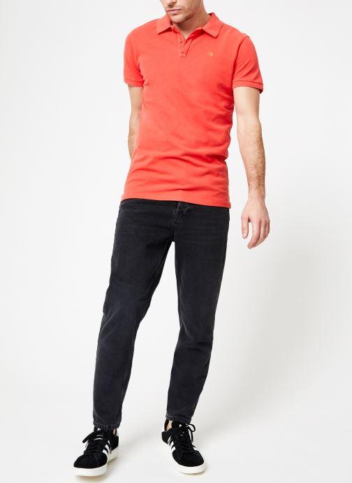 Vêtements Scotch & Soda Classic garment-dyed pique polo Orange vue bas / vue portée sac