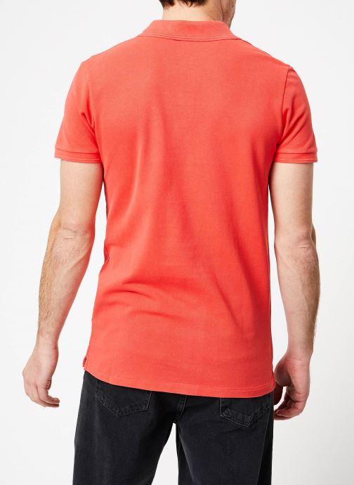 Vêtements Scotch & Soda Classic garment-dyed pique polo Orange vue portées chaussures