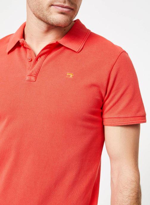 Vêtements Scotch & Soda Classic garment-dyed pique polo Orange vue face
