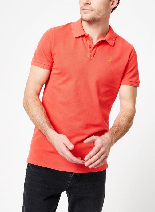 Vêtements Scotch & Soda Classic garment-dyed pique polo Orange vue droite