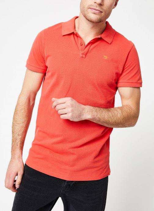 Vêtements Scotch & Soda Classic garment-dyed pique polo Orange vue détail/paire