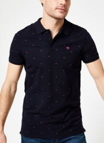 Classic garment-dyed pique polo with all-over print