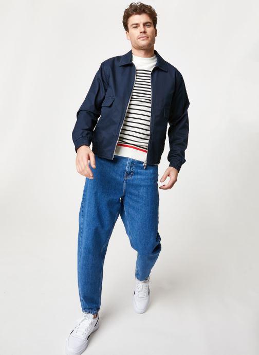Vêtements Scotch & Soda Classic short jacket in cotton quality Bleu vue bas / vue portée sac