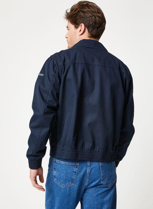 Vêtements Scotch & Soda Classic short jacket in cotton quality Bleu vue portées chaussures