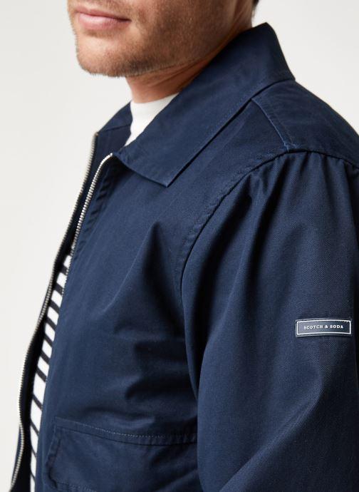 Vêtements Scotch & Soda Classic short jacket in cotton quality Bleu vue face