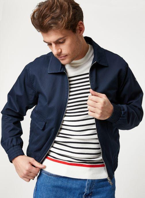 Vêtements Scotch & Soda Classic short jacket in cotton quality Bleu vue détail/paire