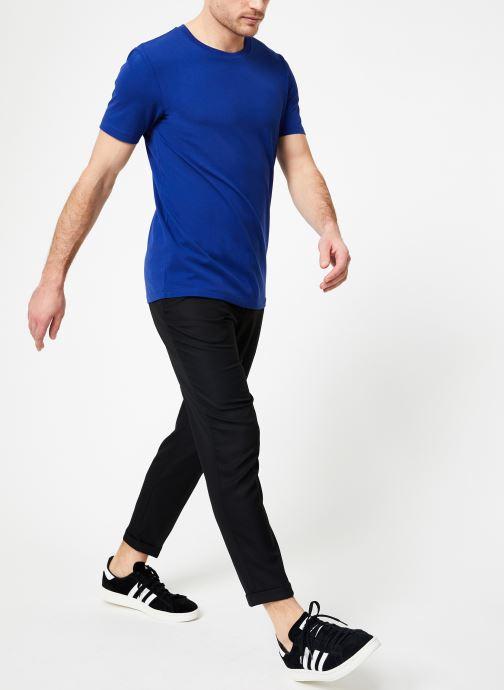 Vêtements Scotch & Soda Crewneck tee in lightweight pique quality Bleu vue bas / vue portée sac