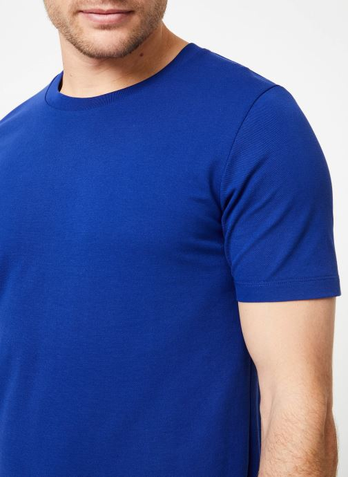 Vêtements Scotch & Soda Crewneck tee in lightweight pique quality Bleu vue face