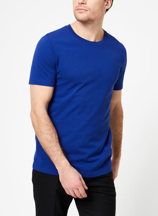 Vêtements Scotch & Soda Crewneck tee in lightweight pique quality Bleu vue droite