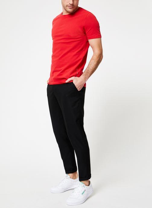 Vêtements Scotch & Soda Crewneck tee in lightweight pique quality Rouge vue bas / vue portée sac