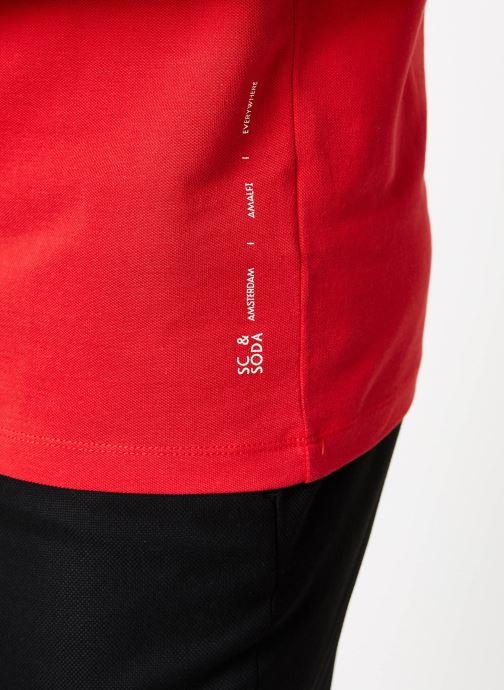 Vêtements Scotch & Soda Crewneck tee in lightweight pique quality Rouge vue face