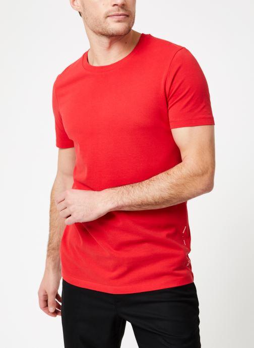 Vêtements Scotch & Soda Crewneck tee in lightweight pique quality Rouge vue droite