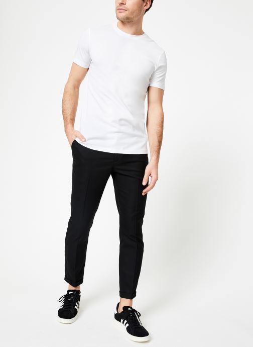 Vêtements Scotch & Soda Crewneck tee in lightweight pique quality Blanc vue bas / vue portée sac