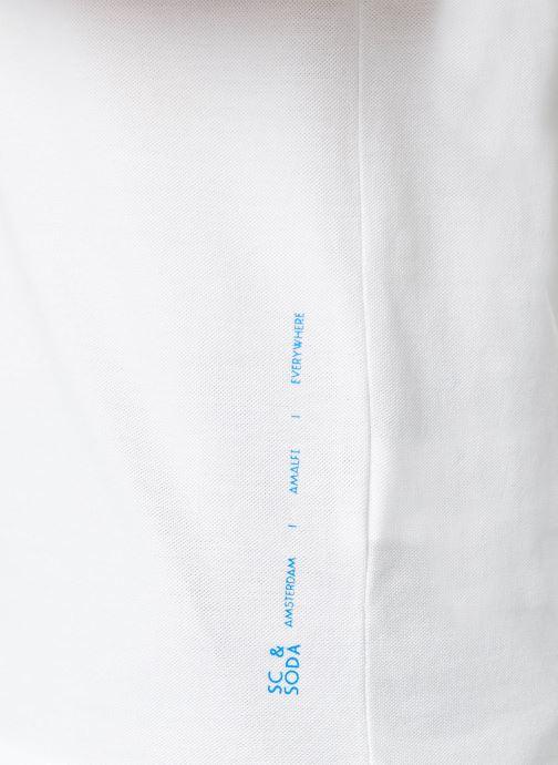 Vêtements Scotch & Soda Crewneck tee in lightweight pique quality Blanc vue face