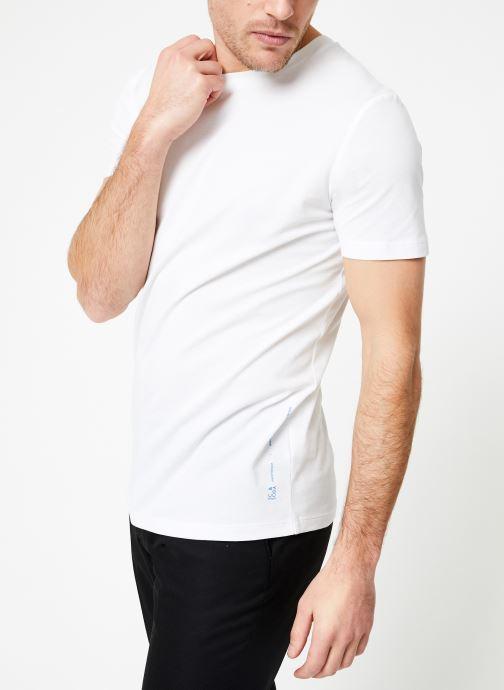 Vêtements Scotch & Soda Crewneck tee in lightweight pique quality Blanc vue droite