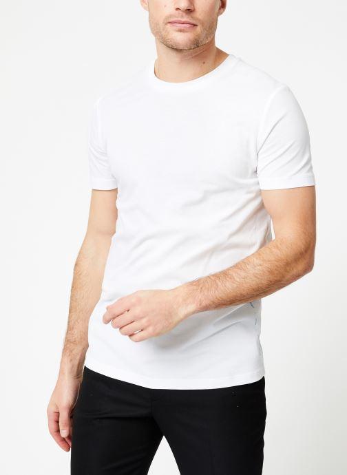 Vêtements Scotch & Soda Crewneck tee in lightweight pique quality Blanc vue détail/paire