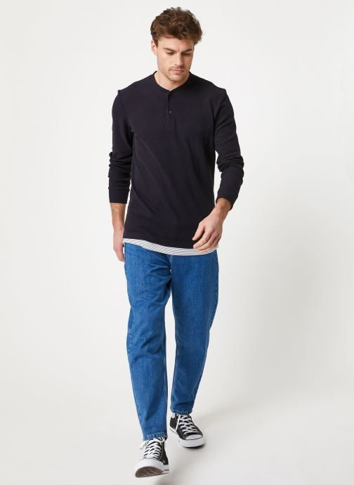 Vêtements Scotch & Soda Fake double-layer grandad in structured jersey quality Bleu vue bas / vue portée sac