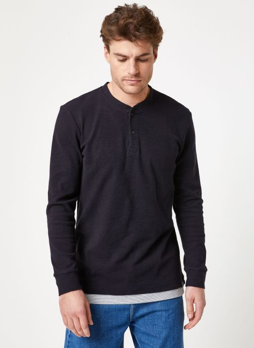 Vêtements Scotch & Soda Fake double-layer grandad in structured jersey quality Bleu vue droite