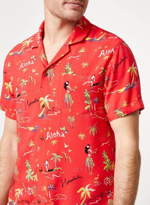 Vêtements Scotch & Soda HAWAIIAN FIT- All-over printed hawaii shirt Rouge vue face