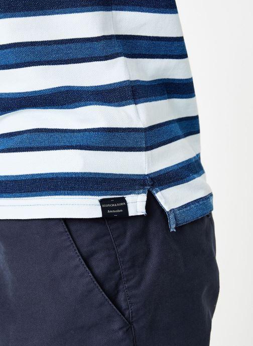 Vêtements Scotch & Soda Indigo pique polo Bleu vue face