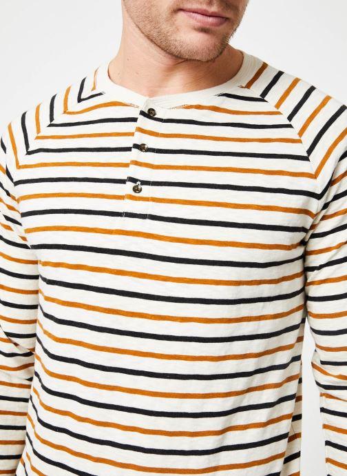 Vêtements Scotch & Soda Longsleeve grandad tee in slub jersey quality Beige vue face