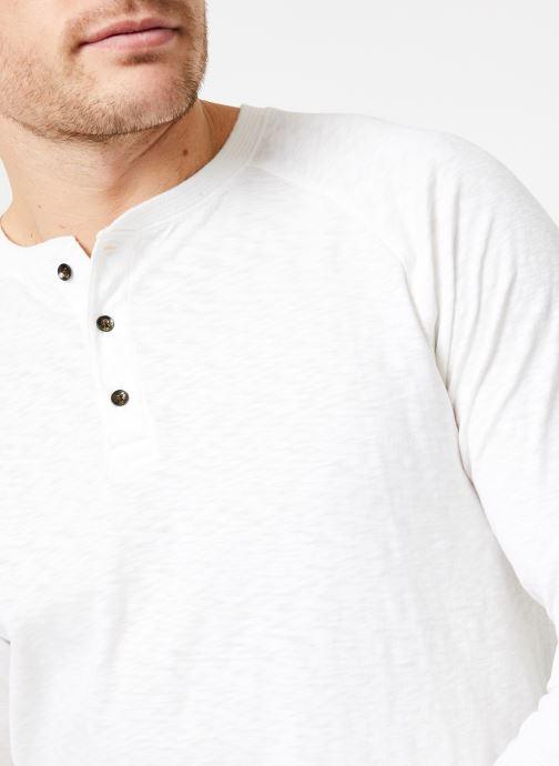 Abbigliamento Scotch & Soda Longsleeve grandad tee in slub jersey quality Bianco immagine frontale