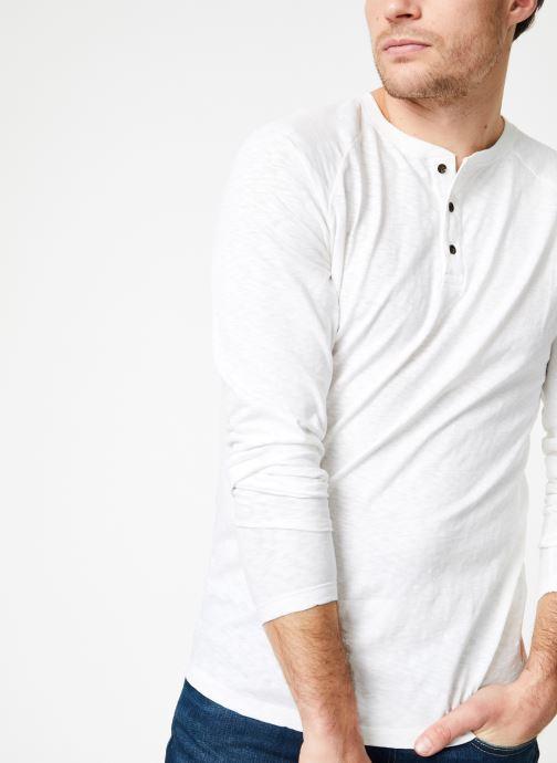 Abbigliamento Scotch & Soda Longsleeve grandad tee in slub jersey quality Bianco vedi dettaglio/paio